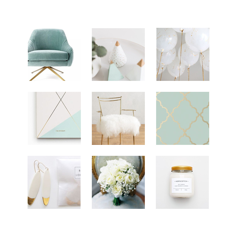 French Flower Style Mood Board