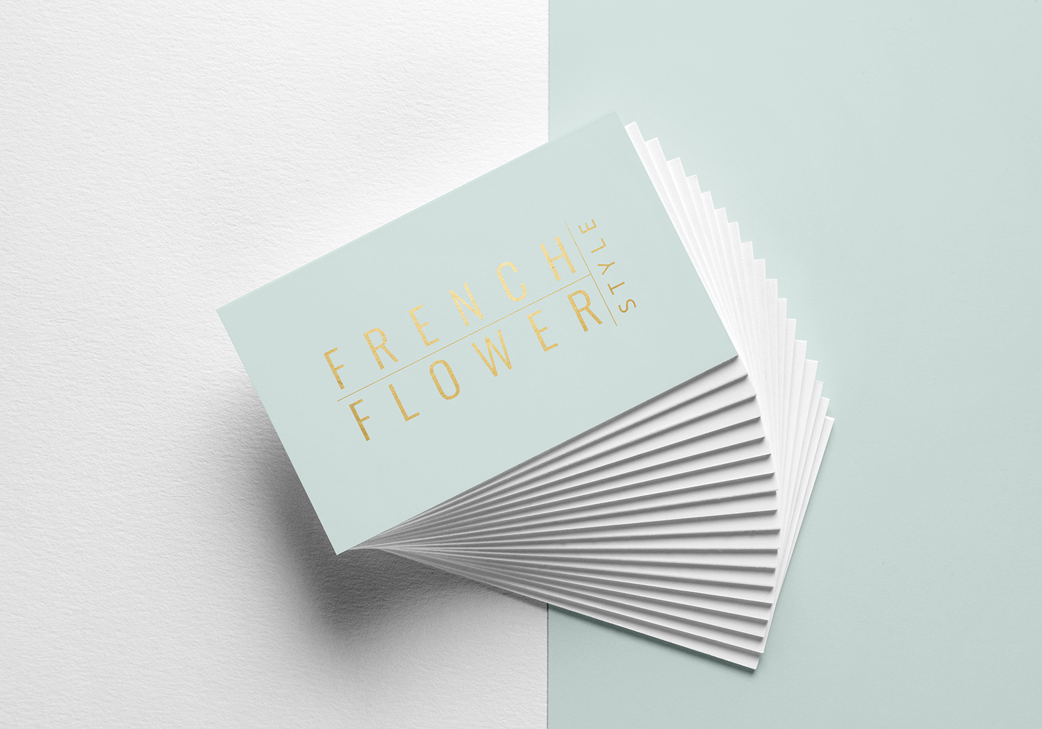 French Flower Style Business Card