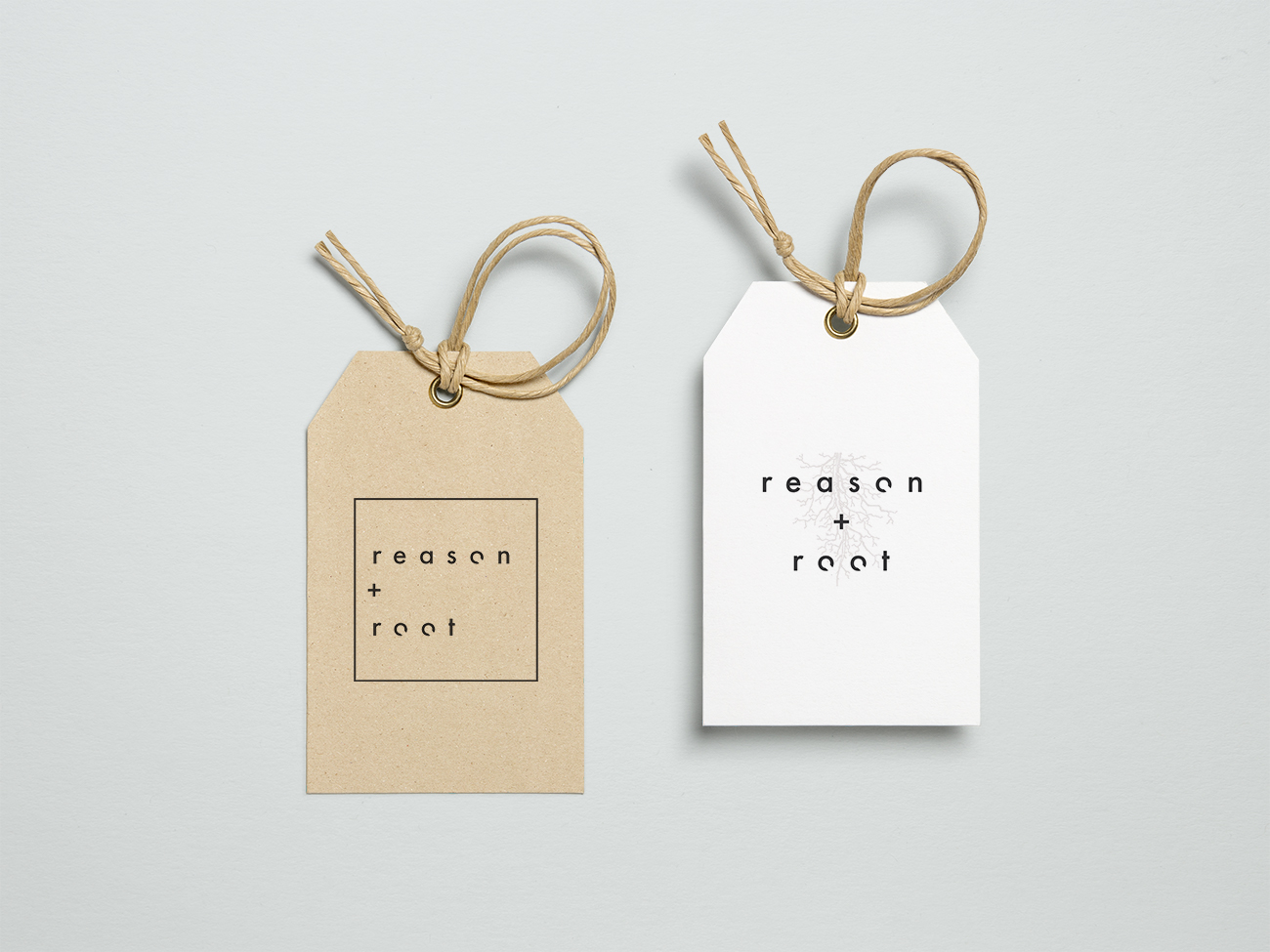 reason + root label swing tag